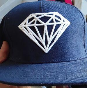 Diamond supply co. Snapback navy blue